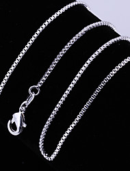 cheap -Women's Chain Necklace Chains Classic Precious Unique Design Fashion Copper Silver Plated Silver 45,56,61 cm Necklace Jewelry 1pc For Daily Street Work