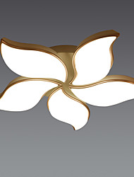 cheap -LED60W Modern Ceiling Light Rose Color Frame with Acylic Shade for Living Room Bedroom