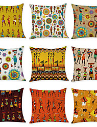 cheap -9 pcs Linen Pillow Cover, Graphic Prints Printing Classic Traditional Throw Pillow