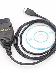 Недорогие -USB-кабель obd2 kkl vag com 409.1 Автоматический диагностический сканер k-line сканер kkl vag-com 409.1 для сиденья v w USB-кабель интерфейса