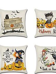 cheap -Cartoon Halloween Pumpkin Cat Raven Witch Print Pillow Cushion Cover 45 * 45cm Throw Pillowcase Sofa Home Decor Accessories