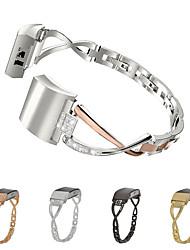 Недорогие -ремешок для часов для fitbit citbit ювелирный дизайн из нержавеющей стали запястье strapharge 2 f