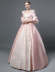 cheap -Cinderella Goddess Dress Cosplay Costume Masquerade Ball Gown Adults' Women's Rococo Medieval Renaissance Party Prom Christmas Halloween Carnival Festival / Holiday Lace Satin Pink Carnival Costumes