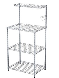 cheap -Adjustable Storage Shelf Rack,3-Tier Multifunctional Shelving Unit Stand Tower, Bookcase for Bathroom Living Room Kitchen