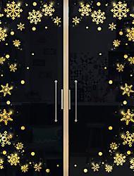 cheap -Window Film & Stickers Decoration Happy New Year / Christmas Geometric / Holiday / Character PVC(PolyVinyl Chloride) Window Sticker / Anti-Glare / Door Sticker