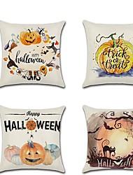 cheap -Halloween Pillow Case Pumpkin Cat Digital Print Mute Cushion Cover Home Accessories 45*45