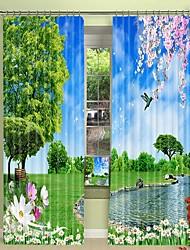 abordables -Parc moderne impression numérique 3d rideau rideau ombrage haute précision tissu de soie noire haute qualité rideau