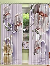cheap -Phnom Penh Ceramic Purple Digital Printing 3D Curtain Shading Curtain High Precision Black Silk Fabric High Quality Curtain
