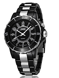 cheap -Women's Steel Band Watches Quartz Modern Style Stainless Steel Silver Alarm Clock Noctilucent Analog Casual - Black