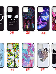 cheap -Case For Apple iPhone 11 / iPhone 11 Pro / iPhone 11 Pro Max Pattern Back Cover Animal / Flower TPU