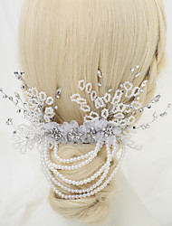 cheap -Imitation Pearl / Rhinestone / Fabrics Hair Combs with Rhinestone / Imitation Pearl / Flower 1 Piece Wedding Headpiece