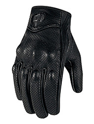 cheap -Motorcycle Gloves - Hard Knuckle Gloves with Antiskid Grip - Men/Women Leather Motorcycle Gloves Breathable Cowhide