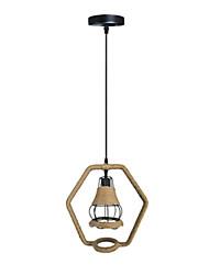 Недорогие -36 cm Подвесные лампы Дерево / бамбук Оригинальные Окрашенные отделки Ретро 110-120Вольт / 220-240Вольт