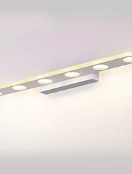 cheap -LED Mirror Lamp 58cm 30W 6-Lights Bathroom Lighting Painted White Iron Vanity Light Wall Light IP44 Generic Downlight SMD5050