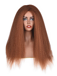 cheap -Synthetic Wig Curly Middle Part Wig Long Medium Auburn Synthetic Hair 18 inch Women's Women Brown