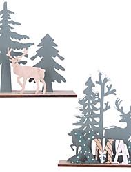 cheap -The Christmas Tree Wooden Pendants Christmas  Party DIY Home Decoratio