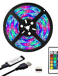 cheap -ZDM 3M Waterproof LED Strip Light 5V USB RGB TV Backlight 2835 Lighting for TV Room Holiday Decoration with 24 Keys Remote Controller