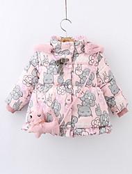 Недорогие -малыш Девочки Классический Однотонный На пуховой / хлопковой подкладке Розовый