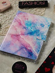 cheap -Adjustable Case For Samsung Galaxy / Asus Universal Wallet / Card Holder / with Stand Full Body Cases Pink Blue Marble PU Leather 8-8.9 Inch
