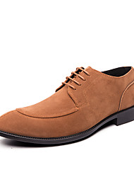 cheap -Men's Dress Shoes Suede Fall & Winter Business Oxfords Walking Shoes Non-slipping Black / Brown / Gray / Party & Evening