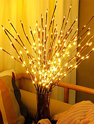 cheap -1pcs LED Willow Branch Lamp Battery Powered 20 Bulbs Decorative Lights Tall Vase Filler Willow Twig Lighted Branch For Home Decoration