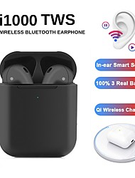 cheap -Blackpods i1000 TWS True Wireless Earbuds Voice Hey Siri Control 100% H1 Chip Function Wireless QI Charge Inear Check Automatic Ear Detection Play and Pause Pop-up Bluetooth 5.0