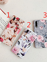 cheap -Phone Case For Huawei Back Cover Huawei P20 Huawei P20 Pro Huawei P20 lite Huawei P30 Huawei P30 Pro Huawei P30 Lite IMD Frosted Pattern Flower TPU