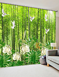cheap -Jade Carving Style in The Forest Lotus Digital Printing 3D Curtain Shading Curtain High Precision Black Silk Cloth High Quality Curtain