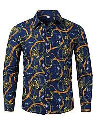 abordables -Chemise Homme, Géométrique Bleu Marine