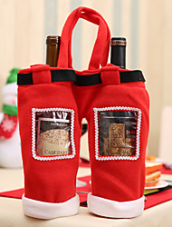 cheap -Christmas Table Dinner Decoration Wine Cover Drink Juice Bottle Candy  Gift Bag