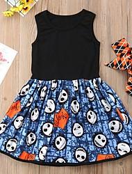 cheap -Baby Girls' Basic Color Block Sleeveless Dress Black