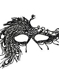 Недорогие -Маски Маски Маскарад Маскарадная маска Ретро Хэллоуин сверхтонкие волокна Назначение ведьма Косплей Хэллоуин Карнавал Жен. Бижутерия Модное ювелирное украшение
