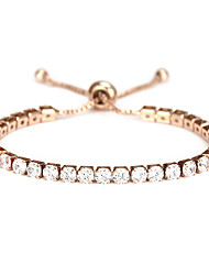 cheap -Women's AAA Cubic Zirconia Tennis Bracelet Classic Vertical / Gold bar Sweet Alloy Bracelet Jewelry Rose Gold / Silver For Daily