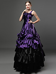 cheap -Gothic Victorian Medieval 18th Century Dress Party Costume Masquerade Women's Costume Purple Vintage Cosplay Party Prom Ball Gown Plus Size Customized