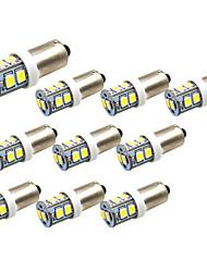 Недорогие -10 шт. BA9S / BAX9s Автомобиль Лампы 1 W SMD 2835 250 lm 10 Светодиодная лампа Подсветка для номерного знака / Рабочее освещение / Задний свет Назначение Универсальный Avenger / Elysee / 9-5