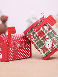 cheap -Gift Tin Box For Children Christmas Mail Box Santa Claus Snowman Printed Jar Sealed Packing Boxes
