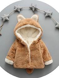 Недорогие -малыш Девочки Уличный стиль Однотонный Куртка / пальто Розовый