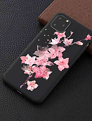 cheap -Case For Apple iPhone 11 / 11 Pro / 11 Pro Max Frosted / Pattern Full Body Cases Peach Blossom TPU for iPhone 6 / 6S Plus / 7 / 7 Plus / 8 / 8 Plus / X / XS / XR / Xs Max