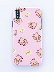 cheap -Scrub Cartoon Pink Butterfly Pig iPhone XS Max Mobile Shell x Personality Creative xr Youth 6plus Cute Girls 7plus Silicone 8plus Fashion Drop Mobile Phone Case