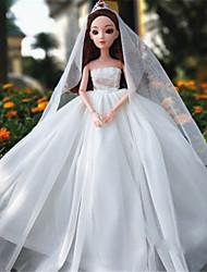 cheap -11-Inch High-End Gift Girl Princess Luxury Wedding Dress Ocean Skirt Big Flower Vaginal Discharge