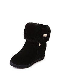 cheap -Women's Boots Hidden Heel Round Toe PU Fall & Winter Black