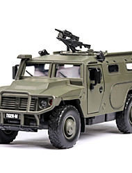 cheap -1:32 Plastic Aluminum-magnesium alloy Military Vehicle Toy Truck Construction Vehicle Adults Kids Car Toys / Parent-Child Interaction