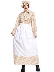 cheap -Fairytale Cosplay Costume Halloween Props Adults' Women's Cosplay Halloween Halloween Festival Halloween Festival / Holiday Silk / Cotton Blend Beige Women's Carnival Costumes Lolita / Dress / Apron