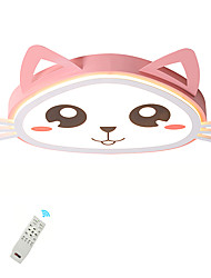cheap -1-Light LED40W Novelty Flush Mount Lights Kids Room Kindergarten Ceiling Lamp Pink Cat Painted Lamp Warm White / White / Dimmable with Remote Control