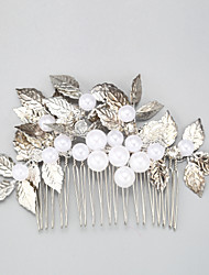 cheap -Other Material / Imitation Pearl / Alloy Hair Combs with Imitation Pearl 1 Piece Wedding Headpiece