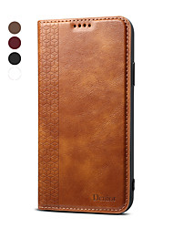 cheap -Denior Wallet Leather Case For Apple iPhone 11 /  iPhone 11 Pro Max Magnetic Auto Sleep Wake Up Back Cover For iPhone XR / iPhone 7 / iPhone 8 / iPhone XS