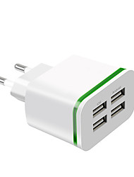 cheap -Fast Charger USB Charger EU Plug Multi-Output 4 USB Ports 4 A 100~240 V for Universal
