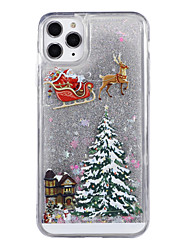 cheap -Case For Apple iPhone 11 / iPhone 11 Pro / iPhone 11 Pro Max Flowing Liquid / Pattern / Glitter Shine Back Cover Tree / Christmas TPU