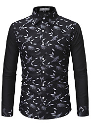 cheap -Men's Daily Shirt - Graphic Black