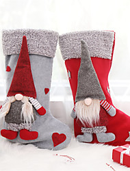 cheap -Christmas Stockings Stands With Gnome Doll 3D Christmas Tree Hanging Fireplace Ornaments Holiday Decorations